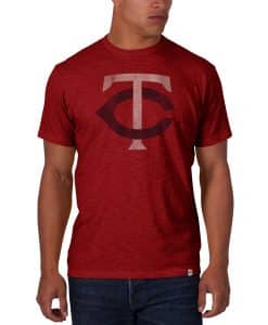 Minnesota Twins Mens's 47 Brand Red Scrum T-Shirt Tee