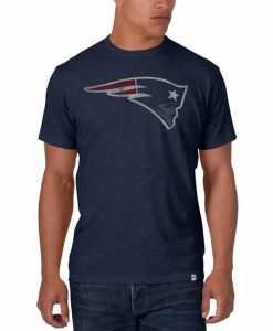New England Patriots Scrum T-Shirt Mens Midnight 47 Brand