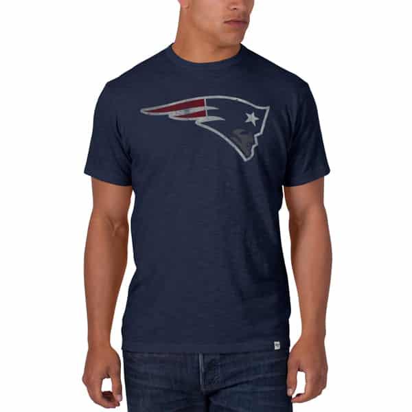 New England Patriots Scrum T-Shirt Mens Midnight 47 Brand