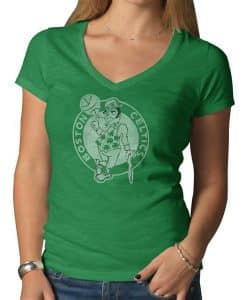 Boston Celtics V-Neck Shirt Scrum T-Shirt Womens Kelly 47 Brand