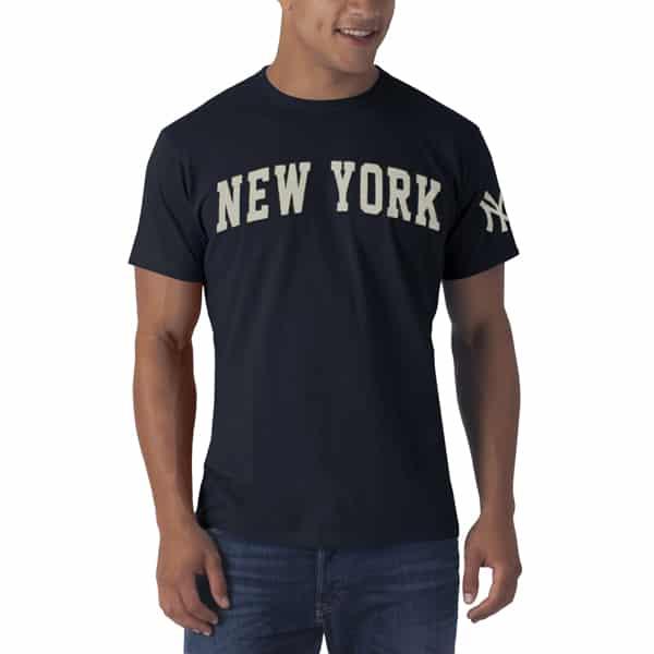 New York Yankees XL Men's 47 Brand Fieldhouse Navy T-Shirt Tee