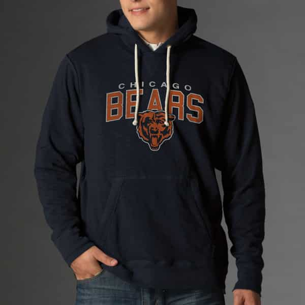 Chicago Bears Slugger Hoodie Mens Fall Navy 47 Brand