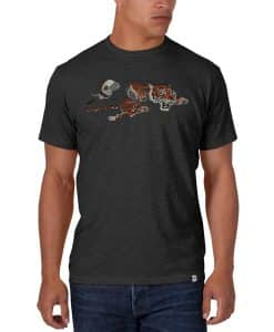 Cincinnati Bengals MEDIUM Men's 47 Brand Scrum Charcoal T-Shirt Tee