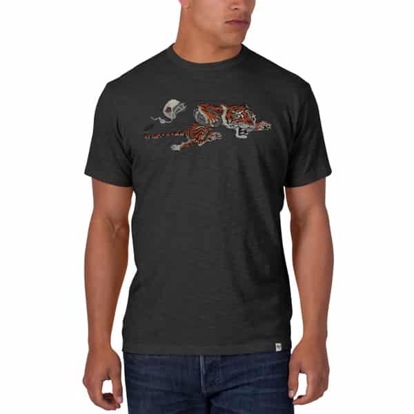 Cincinnati Bengals MEDIUM Men's 47 Brand Scrum Charcoal T-Shirt Tee