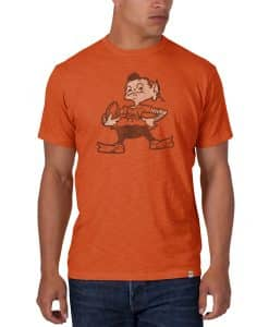Cleveland Browns Men's 47 Brand Orange Classic Scrum T-Shirt Tee