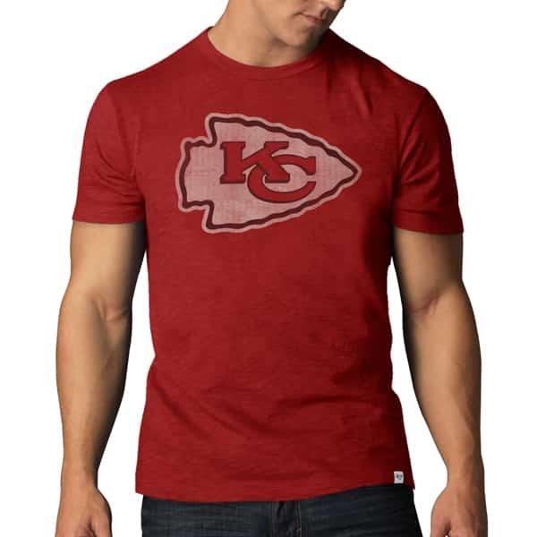 Kansas City Chiefs Scrum T-Shirt Mens Rescue Red 47 Brand