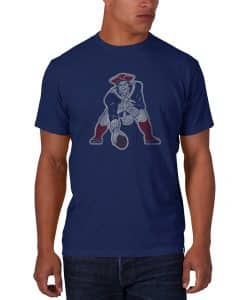 New England Patriots Scrum T-Shirt Mens Bleacher Blue 47 Brand