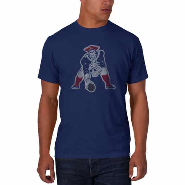 New England Patriots Scrum T-Shirt Mens Bleacher Blue 47 Brand