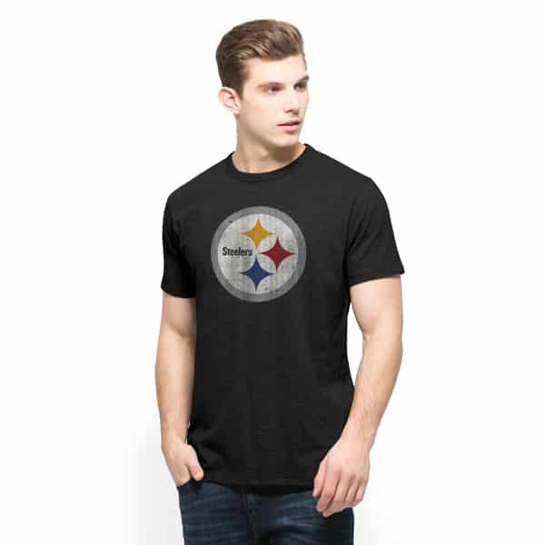 Pittsburgh Steelers Scrum T-Shirt Mens Jet Black 47 Brand