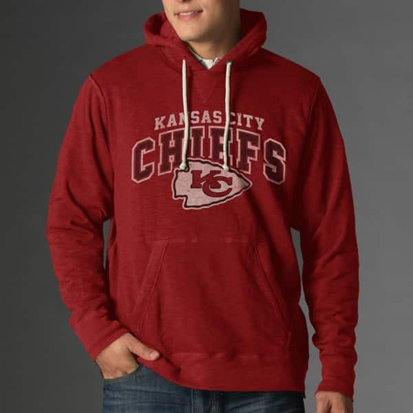 Kansas City Chiefs Slugger Hoodie Mens Rescue Red 47 Brand