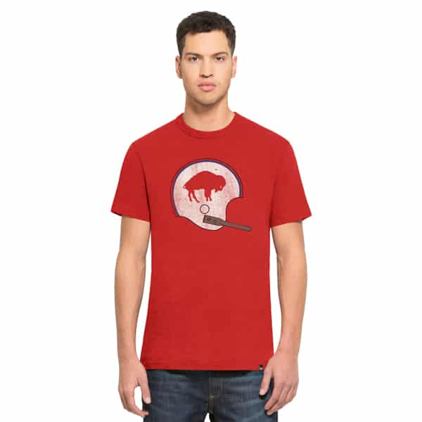 Buffalo Bills Scrum T-Shirt Mens Rescue Red 47 Brand