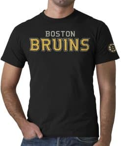 Boston Bruins Fieldhouse T-Shirt Mens Jet Black 47 Brand