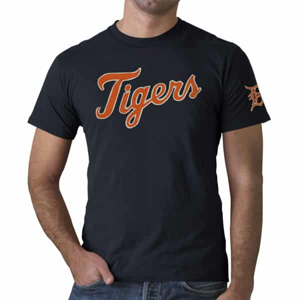 Detroit Tigers Fieldhouse T-Shirt Mens Fall Navy 47 Brand