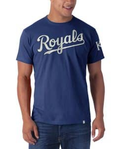 Kansas City Royals Fieldhouse T-Shirt Mens Bleacher Blue 47 Brand