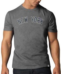 New York Yankees Scrum T-Shirt Mens Wolf Grey 47 Brand