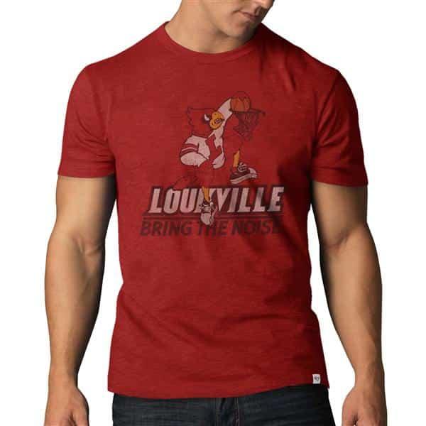 Louisville Cardinals Scrum T-Shirt Mens Rescue Red 47 Brand