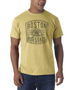 Boston Bruins Flanker T-Shirt Mens Track Gold 47 Brand