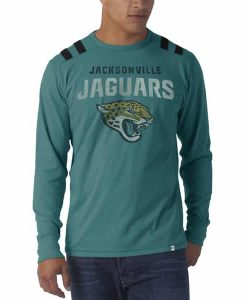 Jacksonville Jaguars Bruiser Long Sleeve T-Shirt Mens Shark'S Teal 47 Brand