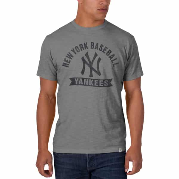 New York Yankees Scrum T-Shirt Mens Wolf Grey 47 Brand