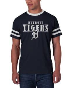 Detroit Tigers Pick N Roll T-Shirt Mens Slim Fall Navy 47 Brand
