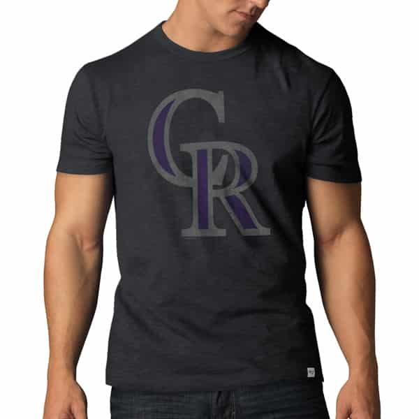 Colorado Rockies Scrum T-Shirt Mens Charcoal 47 Brand