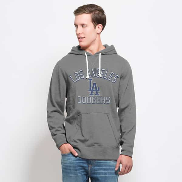 Los Angeles Dodgers Slugger Hoodie Mens Wolf Grey 47 Brand