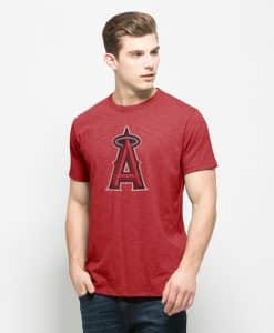 Los Angeles Angels Scrum T-Shirt Mens Rescue Red 47 Brand