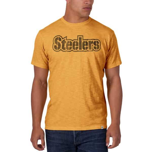 a40ea48e6 Pittsburgh Steelers Scrum T-Shirt Mens Mustard 47 Brand - Detroit ...