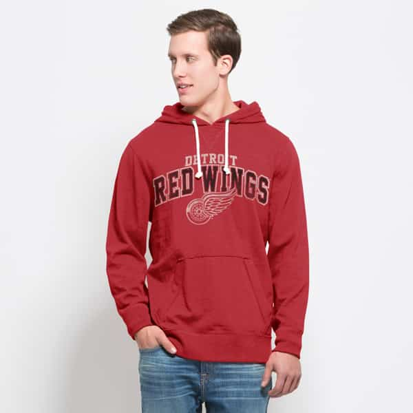 Detroit Red Wings Slugger Hoodie Mens Rescue Red 47 Brand