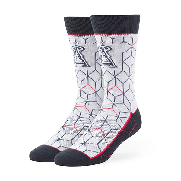 Los Angeles Angels Beehive Fuse Socks Gray 47 Brand