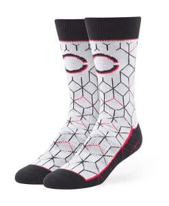 Cincinnati Reds Beehive Fuse Socks Gray 47 Brand
