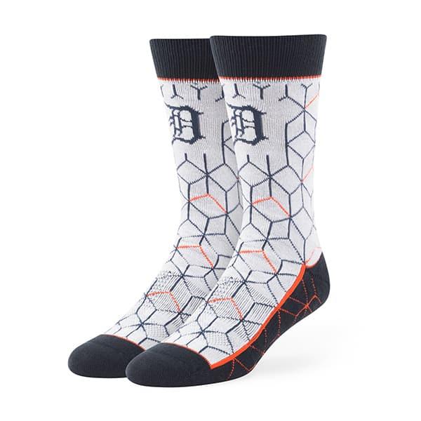 Detroit Tigers Beehive Fuse Socks Gray 47 Brand