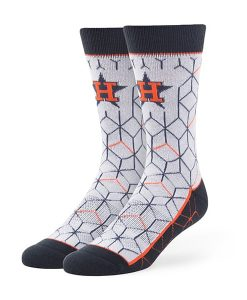 Houston Astros Beehive Fuse Socks Gray 47 Brand