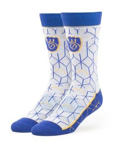 Milwaukee Brewers Beehive Fuse Socks Gray 47 Brand