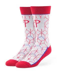 Philadelphia Phillies Beehive Fuse Socks Gray 47 Brand