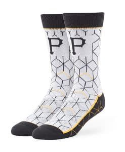 Pittsburgh Pirates Beehive Fuse Socks Gray 47 Brand