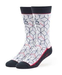St. Louis Cardinals Beehive Fuse Socks Gray 47 Brand