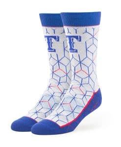 Texas Rangers Beehive Fuse Socks Gray 47 Brand