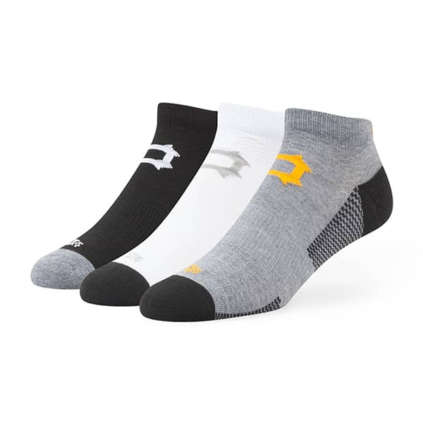 Pittsburgh Pirates Brink Motion Low Cut Socks 3 Pack Tonal 47 Brand