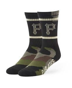Pittsburgh Pirates Duster Camo Sport Socks Frontline Green Camo 47 Brand