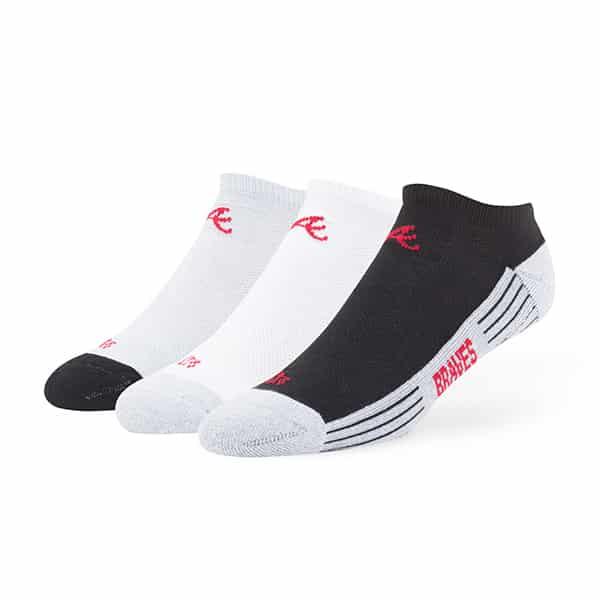Atlanta Braves Float Motion No Show Socks 3 Pack Tonal 47 Brand