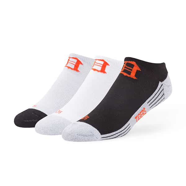 Detroit Tigers Float Motion No Show Socks 3 Pack Tonal 47 Brand