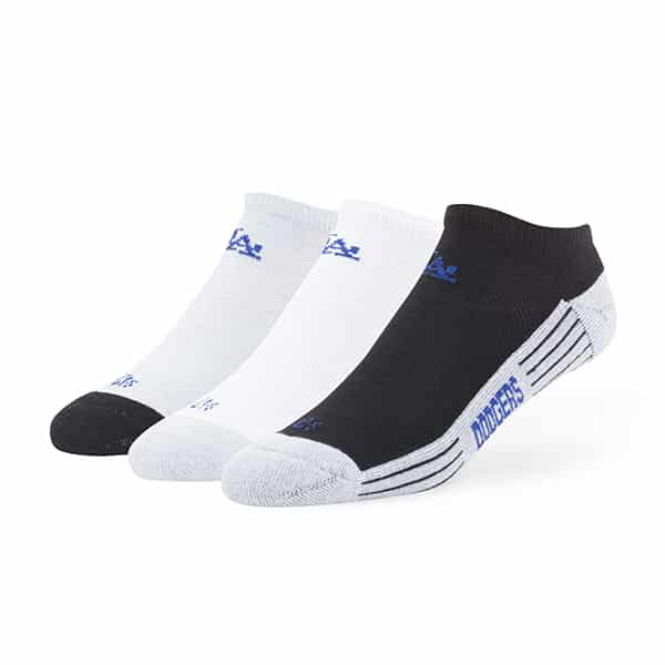 Los Angeles Dodgers Float Motion No Show Socks 3 Pack Tonal 47 Brand