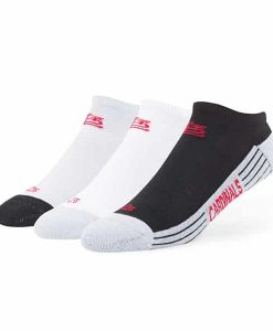 St. Louis Cardinals Float Motion No Show Socks 3 Pack Tonal 47 Brand