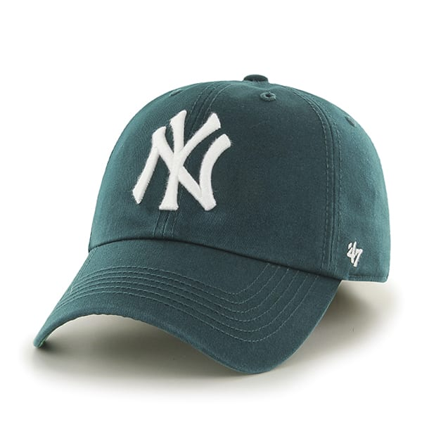 56b939e1be804 New York Yankees XL 47 Brand Pacific Green Franchise Fitted Hat ...