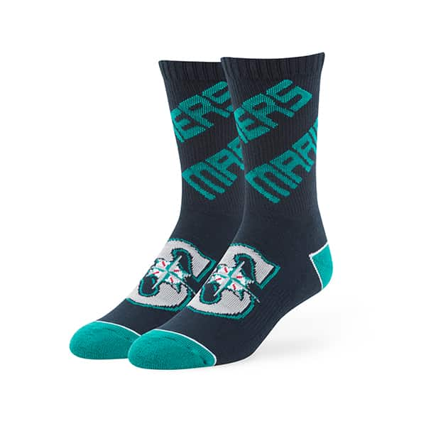 Seattle Mariners Helix Sport Socks Navy 47 Brand