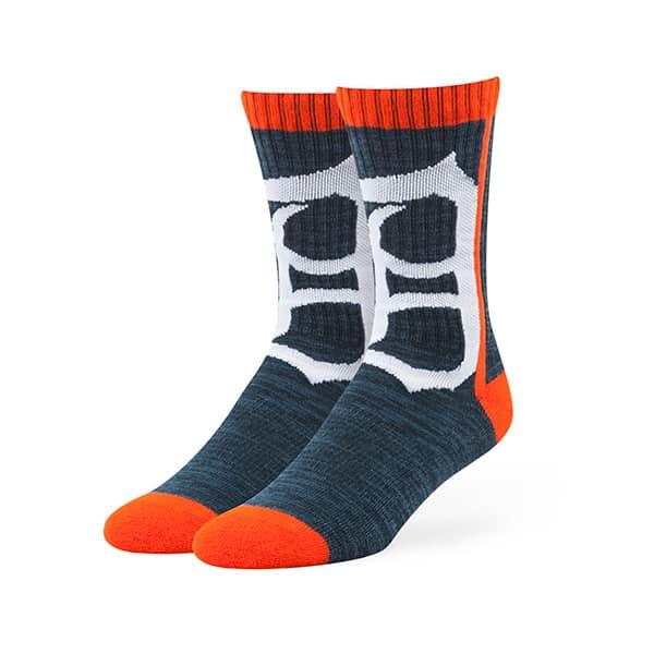 Detroit Tigers Hot Box Sport Socks Navy 47 Brand