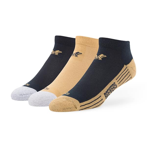 Milwaukee Brewers Skylite Motion Low Cut Socks 3 Pack Team Color 47 Brand