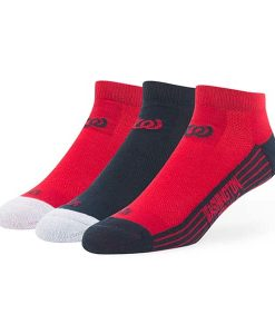 Washington Nationals Skylite Motion Low Cut Socks 3 Pack Team Color 47 Brand
