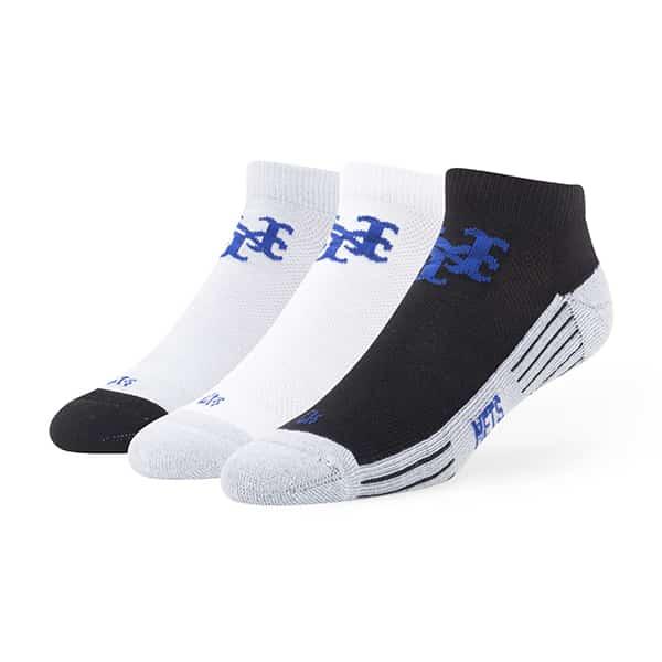 New York Mets Skylite Motion Low Cut Socks 3 Pack Tonal 47 Brand